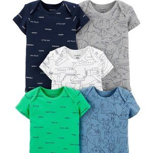 Carter's 5-Pack Airplane Bodysuits Baby Boy 6M